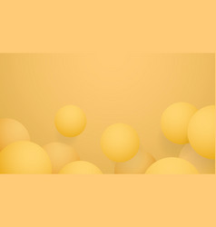 yellow ball abstract background vector image