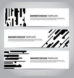 banner covers with abstract flat geometric pattern vector image vector image