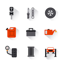 car service repair flat icons vector image