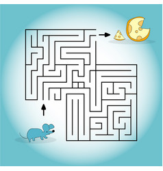 cartoon depicting a mouse looking for vector image