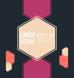 cool colorful background meet up style card vector image