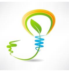 light bulb with leaf inside design element icon vector image vector image
