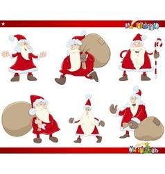 santa claus christmas set vector image vector image