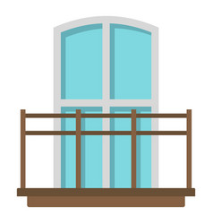 Balcony in french style icon isolated vector