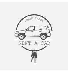 old American car rental vector image vector image