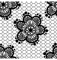 seamless lace pattern vector image