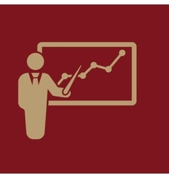 The presentation icon presentation and lectures vector