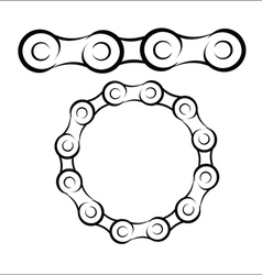 Bicycle chain sketch vector image vector image