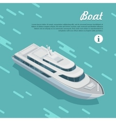 Boat Sailing in Sea Cruise Liner Passenger Ship vector image vector image