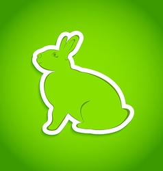 Easter greeting rabbit isolated vector image