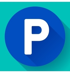 parking lot sign icon flat style vector image