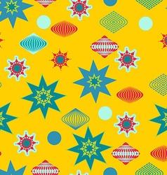 Retro christmas decorations seamless pattern vector image