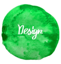 Abstract green watercolor circle background vector image vector image