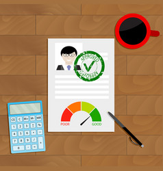 approved credit document vector image