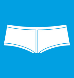 Boyshorts icon white vector