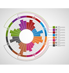 Business chart for infographic and reports vector image vector image