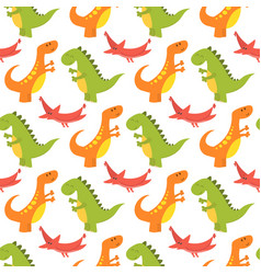 cartoon dinosaurs monster vector image
