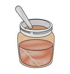 chocolate cream bottle icon vector image vector image