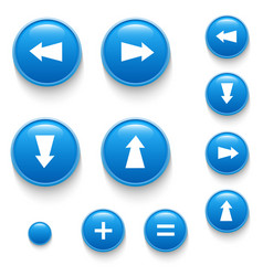 directional buttons blue vector image vector image