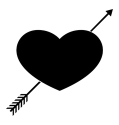 Heart icon simple style vector image