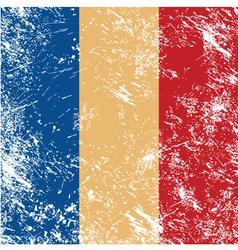 Romania retro flag vector image vector image