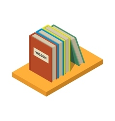 Set of books and tutorials Isometric flat vector image vector image