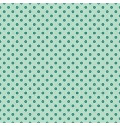 Tile pattern mint polka dots on green background vector image vector image