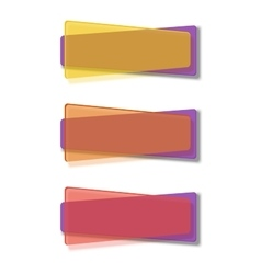 Vivid translucent plastic cards with shadows vector image