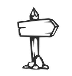 wooden arrow pointer vector image vector image