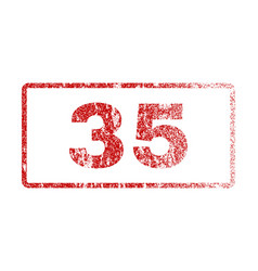 35 rubber stamp vector image
