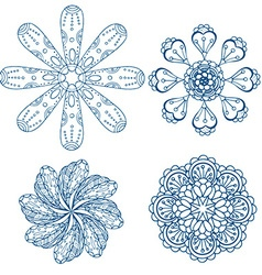 Abstract Floral Ornamental Icon Set vector image