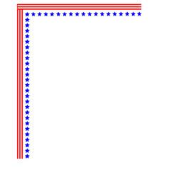 American corner usa symbol frame vector