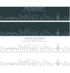 Atlanta single line skyline banner vector