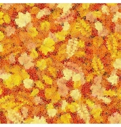 Autumn leaves mosaic EPS 10 vector