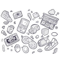 back to the 90s in trendy 80s vector image