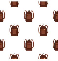 Backpack pattern seamless vector