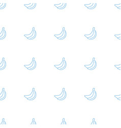 Banana icon pattern seamless white background vector
