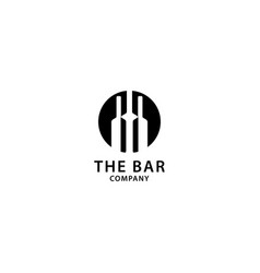 Bar logo design wine and drinks icon vector