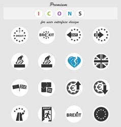 Brexit icon set vector