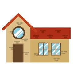 brick building icon vector image