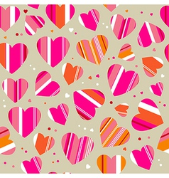 Bright pattern with hearts vector image