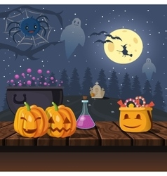 Cartoon Halloween Icons vector image
