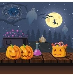 Cartoon Halloween Icons vector