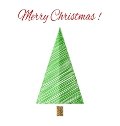 Christmas tree with scetch lines card EPS vector