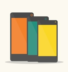colorful smartphone vector image