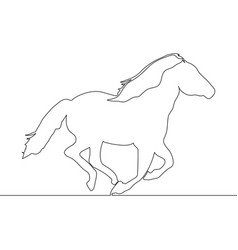 continuous one line drawing horse concept vector image