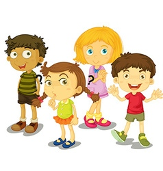 Cute boys and girls together vector image