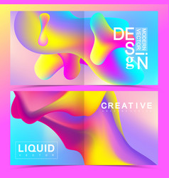 design templates in trendy vibrant gradient vector image