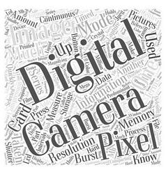 Digital Terminology Word Cloud Concept vector