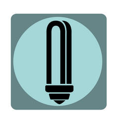 Economy bulb isolated icon vector
